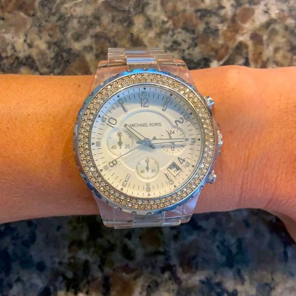 Michael Kors Silver/Clear Watch